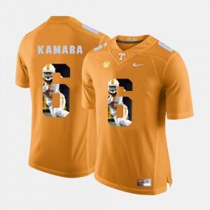 #6 Alvin Kamara UT Jersey Pictorial Fashion Orange Men's 839715-954