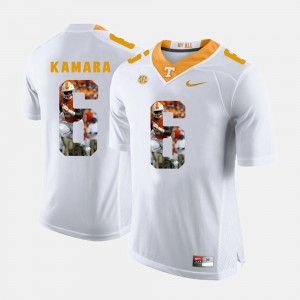 #6 Alvin Kamara UT Jersey Pictorial Fashion Men's White 493227-732