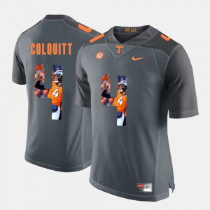 Britton Colquitt UT Jersey #4 Grey Pictorial Fashion Men 391873-721