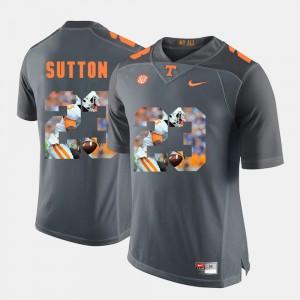 Cameron Sutton UT Jersey Pictorial Fashion Grey Men's #23 509306-254