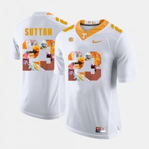 #23 White Pictorial Fashion Cameron Sutton UT Jersey For Men's 593279-657