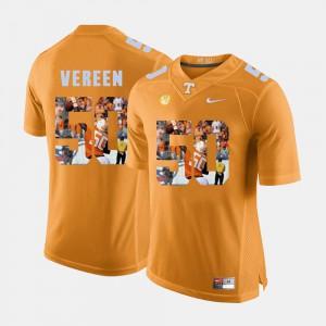 Orange Corey Vereen UT Jersey For Men's #50 Pictorial Fashion 444923-563