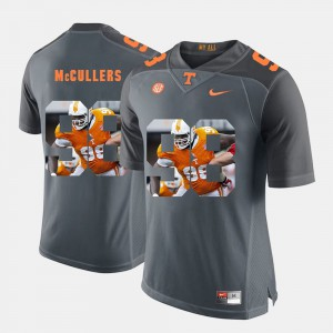 #98 Pictorial Fashion Grey Daniel McCullers UT Jersey For Men's 923119-858