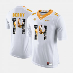 Eric Berry UT Jersey For Men's White #14 Pictorial Fashion 246717-256