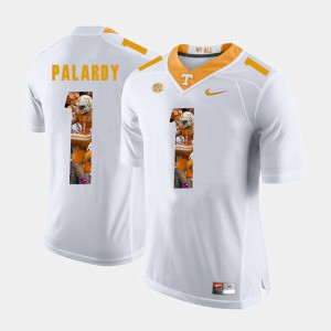 Pictorial Fashion Mens #1 White Michael Palardy UT Jersey 424744-955