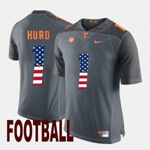 US Flag Fashion Gray Jalen Hurd UT Jersey For Men #1 135729-872
