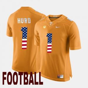 Orange For Men's Jalen Hurd UT Jersey US Flag Fashion #1 413506-260