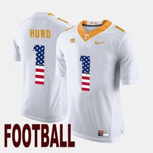 Jalen Hurd UT Jersey Men US Flag Fashion White #1 764871-991