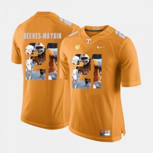 Pictorial Fashion For Men Jalen Reeves-Maybin UT Jersey Orange #21 996003-795