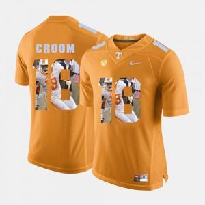 Pictorial Fashion Jason Croom UT Jersey Mens #18 Orange 115023-834