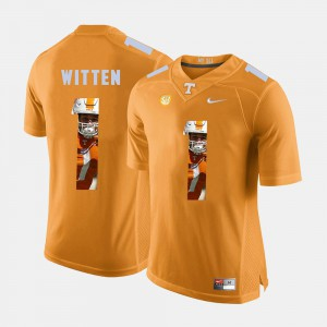Pictorial Fashion Orange Jason Witten UT Jersey #1 For Men 426715-151