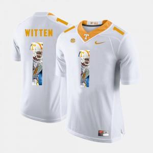 White For Men's Jason Witten UT Jersey Pictorial Fashion #1 877011-216