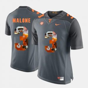 #3 Pictorial Fashion For Men's Josh Malone UT Jersey Grey 412903-265