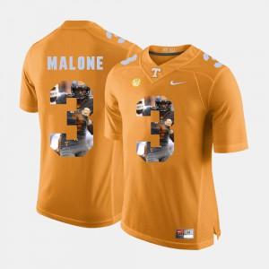 Josh Malone UT Jersey Pictorial Fashion Men's #3 Orange 633780-499