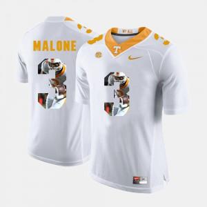 For Men White Josh Malone UT Jersey Pictorial Fashion #3 410649-169
