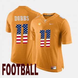 US Flag Fashion Joshua Dobbs UT Jersey Orange #11 For Men 334487-431