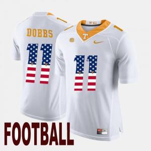 #11 Joshua Dobbs UT Jersey US Flag Fashion White Mens 877677-455