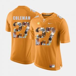 Pictorial Fashion Justin Coleman UT Jersey Orange #27 Men's 342493-458
