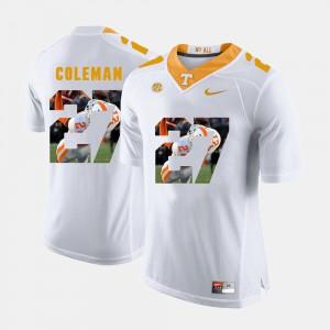 Men's Justin Coleman UT Jersey Pictorial Fashion #27 White 893337-665