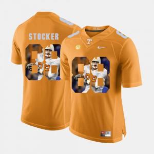 Men Luke Stocker UT Jersey Orange #88 Pictorial Fashion 253784-675