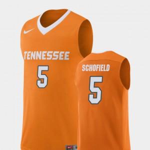 Replica College Basketball Admiral Schofield UT Jersey Orange #5 For Men's 709419-118