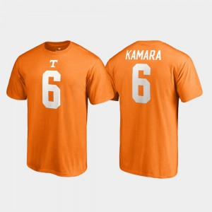 College Legends For Men Alvin Kamara UT T-Shirt Name & Number #6 Tennessee Orange 938767-389
