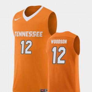 College Basketball Orange Replica Brad Woodson UT Jersey #12 Men 341459-362