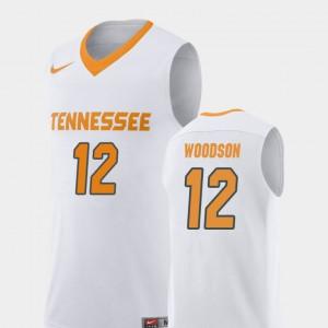 College Basketball Brad Woodson UT Jersey White #12 For Men Replica 542509-350