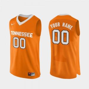 College Basketball Men's #00 Authentic Performace UT Customized Jersey Orange 194424-655