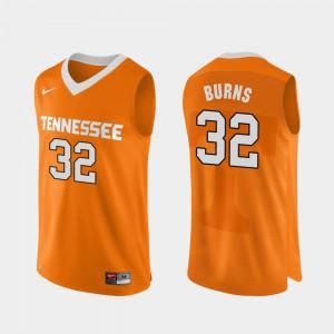 Orange Authentic Performace D.J. Burns UT Jersey College Basketball For Men's #32 873696-876