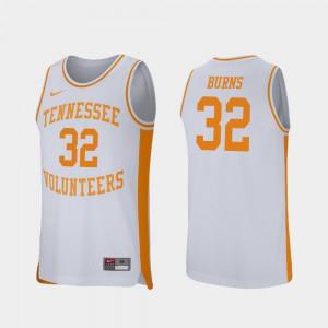 D.J. Burns UT Jersey College Basketball Retro Performance White For Men #32 285348-983
