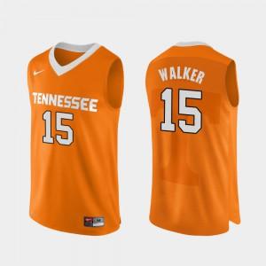 Orange Derrick Walker UT Jersey #15 Authentic Performace Men's College Basketball 922386-984