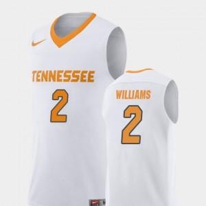 College Basketball #2 Grant Williams UT Jersey Replica Mens White 625266-277