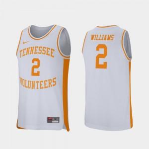 Retro Performance White Grant Williams UT Jersey #2 College Basketball Mens 294245-986
