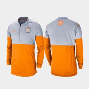 Mens Gray Tennessee Orange Rivalry Football Half-Zip UT Jacket 169798-612
