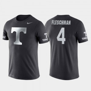 #4 Jacob Fleschman UT T-Shirt For Men's College Basketball Performance Travel Anthracite 814203-298