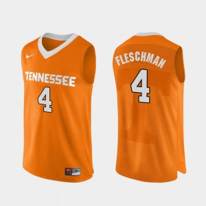 Mens Jacob Fleschman UT Jersey Orange College Basketball Authentic Performace #4 193753-459