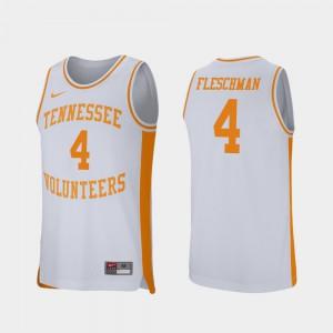 White College Basketball #4 Retro Performance Jacob Fleschman UT Jersey Men's 531597-238