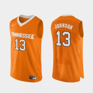 Jalen Johnson UT Jersey Authentic Performace For Men Orange #13 College Basketball 781271-529