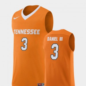 #3 James Daniel III UT Jersey Orange Replica College Basketball Men's 305010-153