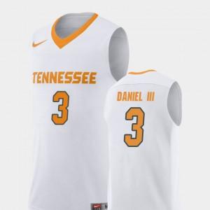 Replica College Basketball #3 White Men's James Daniel III UT Jersey 888635-776