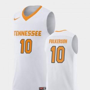 College Basketball White Replica John Fulkerson UT Jersey #10 For Men's 270343-169