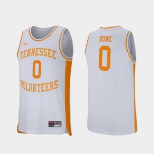 College Basketball Men Retro Performance Jordan Bone UT Jersey White #0 848606-145