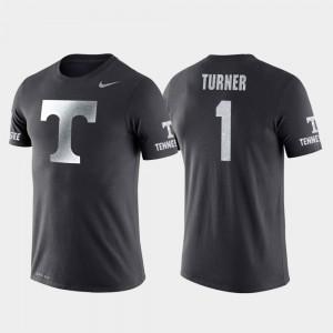 Lamonte Turner UT T-Shirt College Basketball Performance Mens #1 Travel Anthracite 410104-624