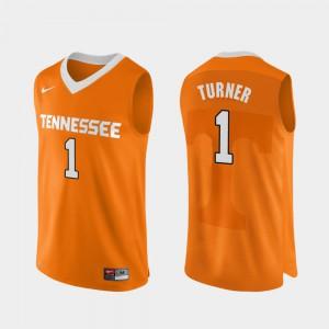 College Basketball Lamonte Turner UT Jersey Men's Authentic Performace Orange #1 144372-718