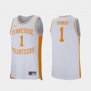 College Basketball Lamonte Turner UT Jersey White Mens #1 Retro Performance 522444-499