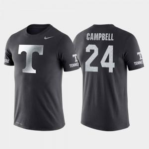 Men's #24 Lucas Campbell UT T-Shirt College Basketball Performance Anthracite Travel 371215-251