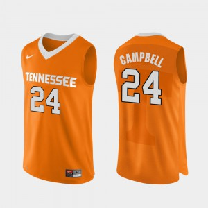 #24 Orange Authentic Performace Men College Basketball Lucas Campbell UT Jersey 513446-696