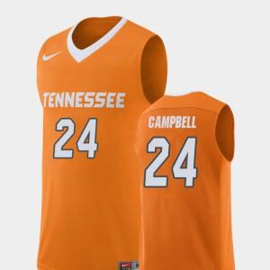 Orange Lucas Campbell UT Jersey Replica #24 Men's College Basketball 914831-325
