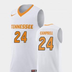 White College Basketball For Men's Lucas Campbell UT Jersey Replica #24 558853-991